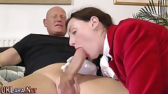 Mature brit gets creampie