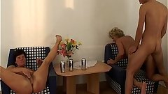 Birthday Sex Celebration With Two Horny Grannies