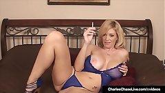 Mature Milf Charlee Chase Finger Fucks Her Pussy Smoking Cig