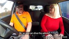 Huge tits granny bangs driving instructor