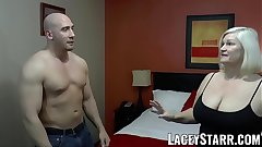 LACEYSTARR - GILF seduces big dicked hunk into hard pounding
