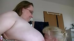 OldNannY Busty BBW Squirearchy Enjoying With Strapon