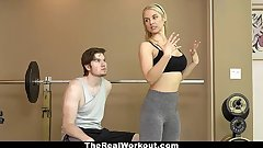 TheRealWorkout - Hot Milf Fucks Fitness Purchaser