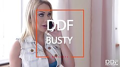 Shove around hot blonde milf Chessie Kay titty fucked until she screams coupled with creams