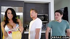 Housewife helter-skelter fat boobies fucks a immensely younger guy
