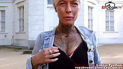 GERMAN SKINNY TATTOO MILF AT PUBLIC BLIND DATE ERCOM Cast aside