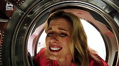 Fucking My Stuck Step Nourisher up the Bore while she is Stuck up the Dryer - Cory Chase
