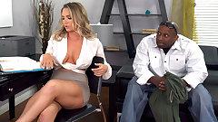 Bodyguard Destroys Anal Slut Cali Carter's Pussy And Ass