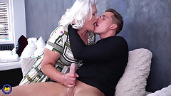 Granny blows increased by fucks young pervert boy