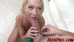 Sexy Light-complexioned Milf struggles with Biggest White Cock!